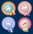 Horse rossette collection vector image