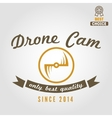 Logo label emblem or logotype for drone and vector image