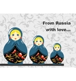 Russian Dolls Banner vector image