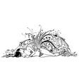 Sea woman vector image