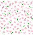 simple cute pattern in small-scale pink flowers vector image