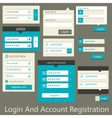 user interface login and account registration vector image