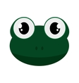cute frog cartoon icon vector image