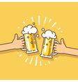 Design element Beer party festival vector image