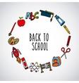 back to school set supplies icon vector image