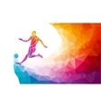 Creative silhouette of soccer player Football vector image