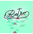 retro word lettering vector image