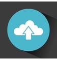 cloud with upload arrow vector image