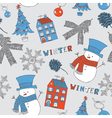 background with snowman vector image vector image