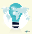 Infographic design template Light bulb with vector image vector image