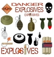 Military and industrial explosives vector image