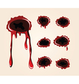 bullet wound collection vector image