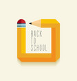 Back to school creative design vector image