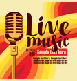 banner for concert live music with microphone vector image