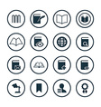 books icons universal set vector image