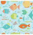 Cartoon fish pattern vector image