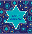 chanukah jewish star on background pattern vector image