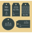 Christmas gift tags from chalky texture Ready to vector image