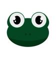 cute frog cartoon icon vector image