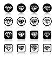Diamond luxury icons set vector image