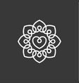 love heart design template flat style quality vector image