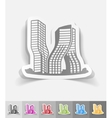 realistic design element dubai building vector image