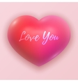 Dimensional Pink Shaded Heart Symbol vector image