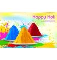Colorful Happy Holi vector image