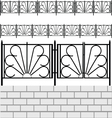 Fence with white bricks vector image vector image