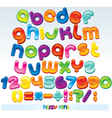 joyful cartoon font vector image vector image