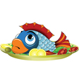 Fish Platter vector image vector image