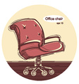 Office chair sketchy vector image vector image