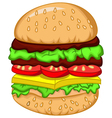 big burger for your design vector image vector image