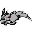 angry rhino head tattoo vector image vector image