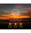 Blurred web design template vector image
