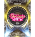 Christmas party poster background with bright vector image