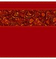 dark red stripe seams vector image