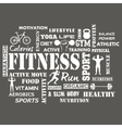Fitness and Healthy Exercise Word vector image