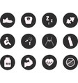 Fitness and Sport icons for web mobile All vector image
