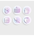 Light icons for wedding vector image