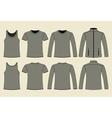 Singlet T-shirt Long-sleeved T-shirt and Jacket vector image