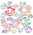 Smile face set vector image