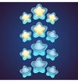 Star logo set icon vector image