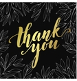Thank you golden lettering design vector image