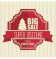 big sale super discount merry christmas banner vector image