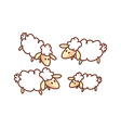 A flock of sheep vector image