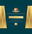 Luxury certificate template with elegant golden vector image