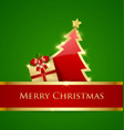 Simple Christmas tree and gift decoration vector image vector image