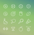 linear sport and fitness icons vector image