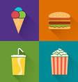 Flat food symbol vector image